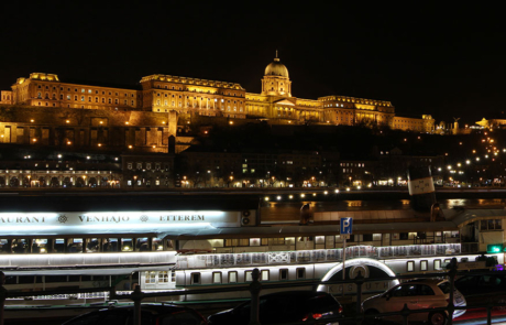Buda Castle Budapest panorama stock photo